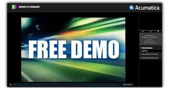 Free On-Demand Acumatica Demonstration
